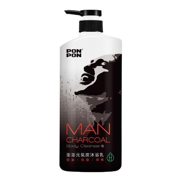(PONPON MAN)Peng Peng MAN] [plant-based charcoal Oil shower gel strength -850g