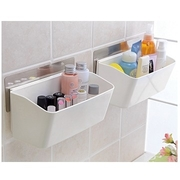 [TAITRA] Non Trace Wall-Adhesive Reusable/Removable Bathroom Storage Organizer Shelf