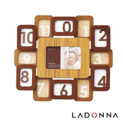 (LADONNA)Japan LADONNA Baby kiss baby wooden clock frame shape DF54-130