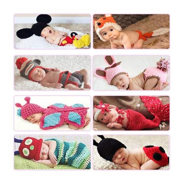 Art photography baby clothing