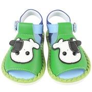 MINIA รองเท้าเด็กอ่อนสีเขียว (สีเขียว)