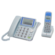[TAITRA] SAMPO Cordless Phone 2.4GHz High Frequency Digital CT-W1304DLPink Blue