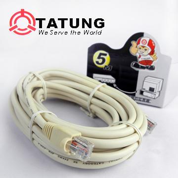 [TAITRA] [TATUNG] TATUNG ISDN Network Plug Cable (5M / 8 Core) TBAV-C383