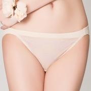 (Swear)[Siweier] flowers tenderness series M-XL lace low waist triangle underwear (gold ocher)