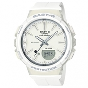【CASIO】 BABY-G sun movement girl steps table - pure white (BGS-100-7A1)