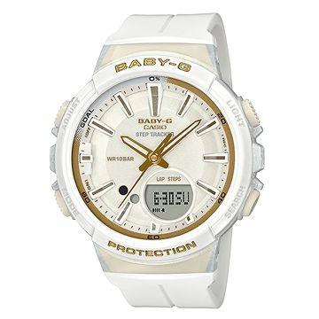 [CASIO] BABY-G หญิงสาววิ่งจ๊อกกิ้งแฟชั่นเคลื่อนไหวแบบสบาย ๆ ดู - สีขาว (BGS-100GS-7A)
