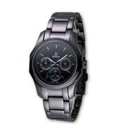 (SIGMA)SIGMA perfect sapphire black mirror fashion watch / 34mm / 1018B-B