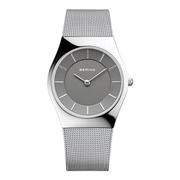 (BERING) BERING นาฬิกาปรับระดับเดนมาร์กรุ่นมิลานง่ายๆด้วยชุดเงินเทา 36 มม