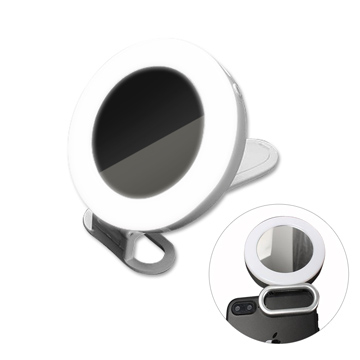 PICKOGEN MUSIC MUSHELS Wide Angle Mirror Face Fill Light Silver