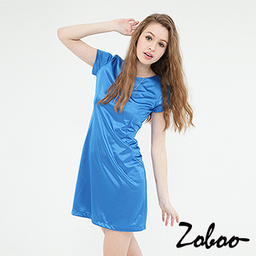 (Zoboo)[] Zoboo plain Tee Dress wide swing (Q5044)