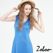 (Zoboo)[] Zoboo sleeveless V-neck wrap dress (Q5011)