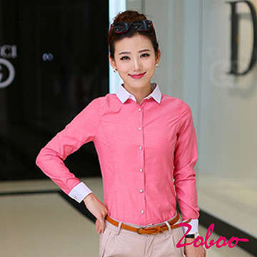 (ZOBOO)ZOBOO-Doll Long Sleeve OL Long Sleeve Shirt-POP804