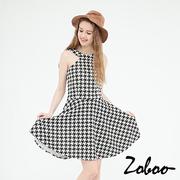 (zoboo)[] One thousand Bird Zoboo strapless dress (Q5031) Gray