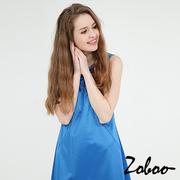 (zoboo)[Close] Zoboo Sleeveless Dress (Q5047) sapphire