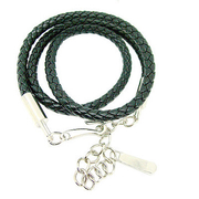 (charme)[Charme] fashion knitting wild mysterious black leather waist chain