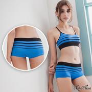 (Naya Nina)[Naya Nina] melody! Super-elastic Seamless low waist flat pants S-XL (blue)
