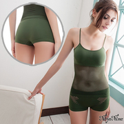 (Naya Nina)[Naya Nina] love pants! Seamless breathable low waist tunnel mouth pants S-XL (Army Green)