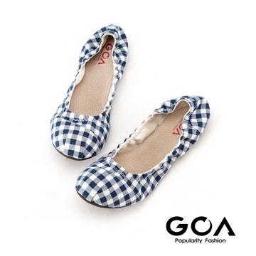 (GOA)GOA classic plaid folding baby shoes - blue