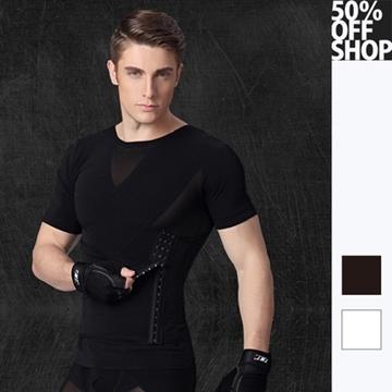 เสื้อแขนสั้นรุ่นอัปเกรด รัดเอวและหน้าท้อง