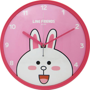 [TAITRA]  LINE FRIENDS นาฬิกาแขวนรุ่นเครื่องเดินเรียบ ลายกระต่ายโคนี่