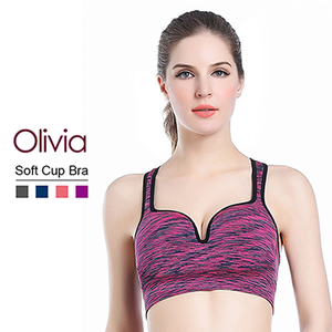 (Olivia)[Olivia] 3D stereoscopic U-shaped groove gather no rims underwear (para dyed purple)