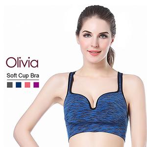 (Olivia)[Olivia] 3D stereoscopic U-shaped groove gather no rims underwear (para dyed blue)