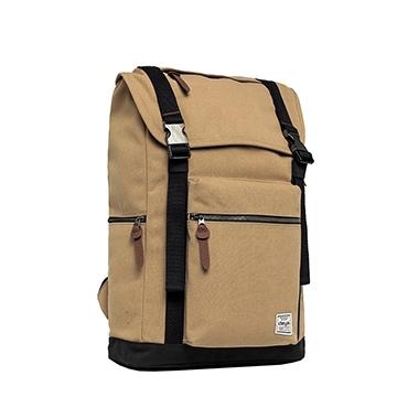 [TAITRA] Backpack / DEYA [Ultra-Lightweight 2-Strap Backpack] Khaki, Made In Taiwan Canvas, Super Lightweight