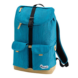 [TAITRA] DEYA City Classic Straight Lines Leisure Backpack -  Bright Blue