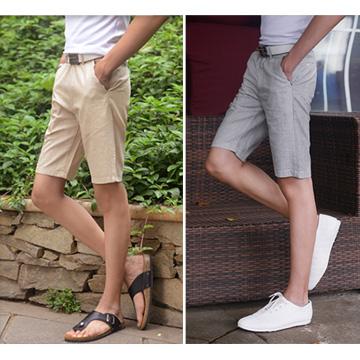 กางเกงขาสั้นผ้าลินินผ้าฝ้ายระบายอากาศพิเศษ