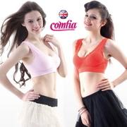 (COMFIA)British lightweight sensation COMFIA lace Seamless underwear models into two (pink + orange)