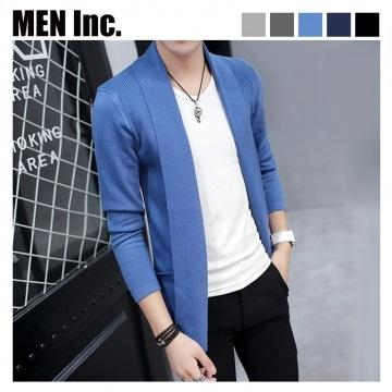 (Men Inc.) แจ็คเก็ตไหมพรม (สีฟ้าเข้ม)
