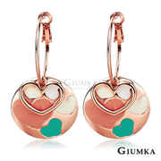 [GIUMKA] ต่างหูรูปหัวใจ (Rose Gold) MF569