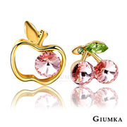 [TAITRA] 【GIUMKA】Fruits Lover Earrings (Gold Pink Zircon) MF572-2