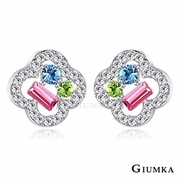[TAITRA] 【GIUMKA】The Shiny Flower Ear Pin/Earrings Silver Version A MF4063-1