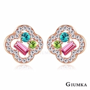 [TAITRA] 【GIUMKA】The Shiny Flower Ear Pin/Earrings Rose Gold Version A MF4063-3