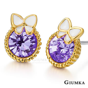 [TAITRA] 【GIUMKA】Gold Elegance Earrings (Purple) MF602-2