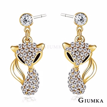 [TAITRA] 【GIUMKA】Gorgeous Fox Ear Pin/Earrings Gold Version DMF4067-2