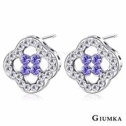 [TAITRA] 【GIUMKA】Blessed Little Flowers Ear Pin/Earrings Purple Crystal MF4082-2