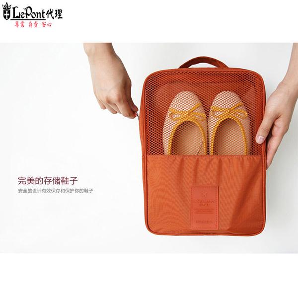 ถุงเก็บรองเท้าสไตล์เกาหลี - สีส้ม