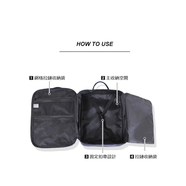 [DINIWELL]  กระเป๋าเสริมการเดินทาง มีช่องเสียบกับกระเป๋าเดินทาง (สีเทา)