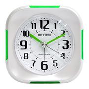(RHYTHM CLOCKS)Japan beautiful sound bell - back fashion luminous alarm / snooze / Silent Alarm (green lightning-hyun)