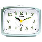 (RHYTHM CLOCKS)Japan beautiful sound bell - back Fluorescent / alarm sound / texture of pearl color alarm clock (mint green)