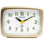 (RHYTHM CLOCKS)Japan Li sound bell - back Fluorescent / alarm sound / texture pearl color alarm clock (champagne)
