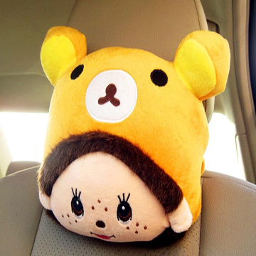 พนักพิงศีรษะหมีน่ารักรุ่นเกาหลีนำเข้า (2 ชิ้น)