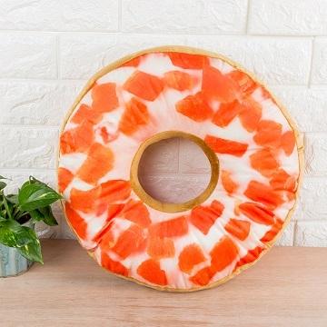 Simulation of donut shape pillow waist pillow cushion - fruit temptation