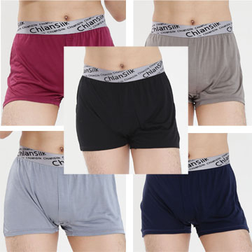 (CHLANSILK)Que Lan silk 100% silk comfortable breathable perfect sportsman corners flat pants -88,991 (five groups)