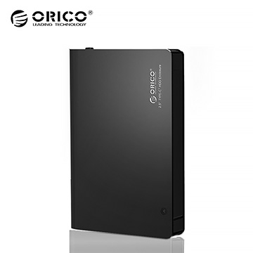 "(ORICO)ORICO USB3.0 Type-C 2.5 ""12.5mm HDD Side Cutter Quick Release Aluminum Alloy Bound Box 2596C3-V1-BK"