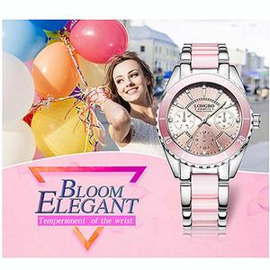 【LONGBO】 Longbo three luminous crystal diamond table - pink
