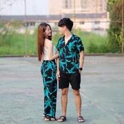 เชิ้ตฮาวาย กางเกงลายกระบอก ใส่เป็นคู่น่ารักมากค่าาา