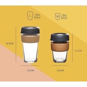 KeepCup Brew Cork Series ถ้วยกาแฟรักษ์โลก รุ่นแถบก๊อก M/L Made in Australia